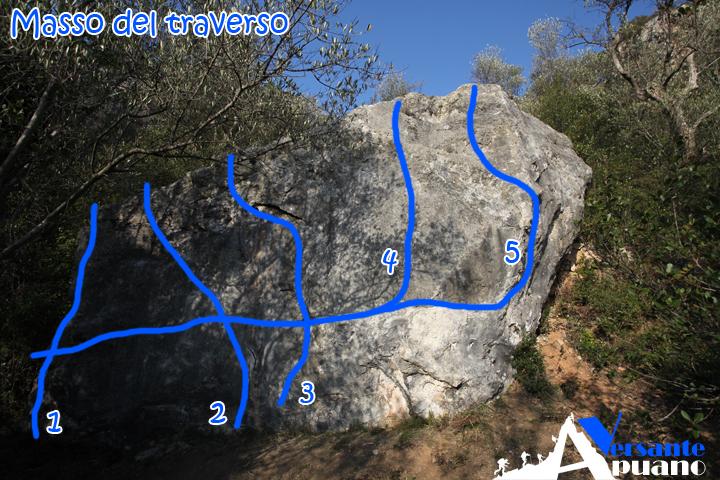 Masso del traverso | Uliveto | Versante Apuano