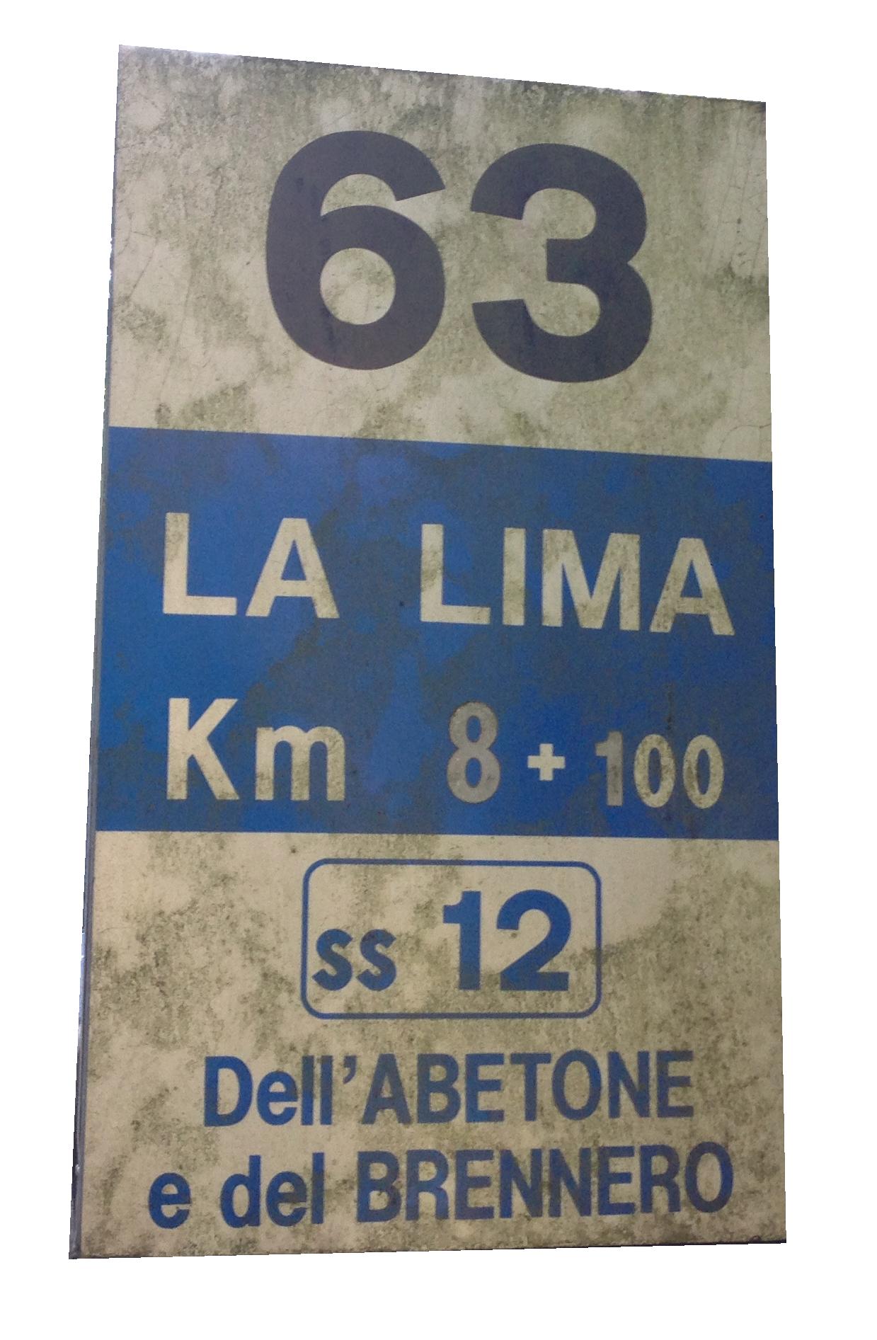 Cartello Km 63